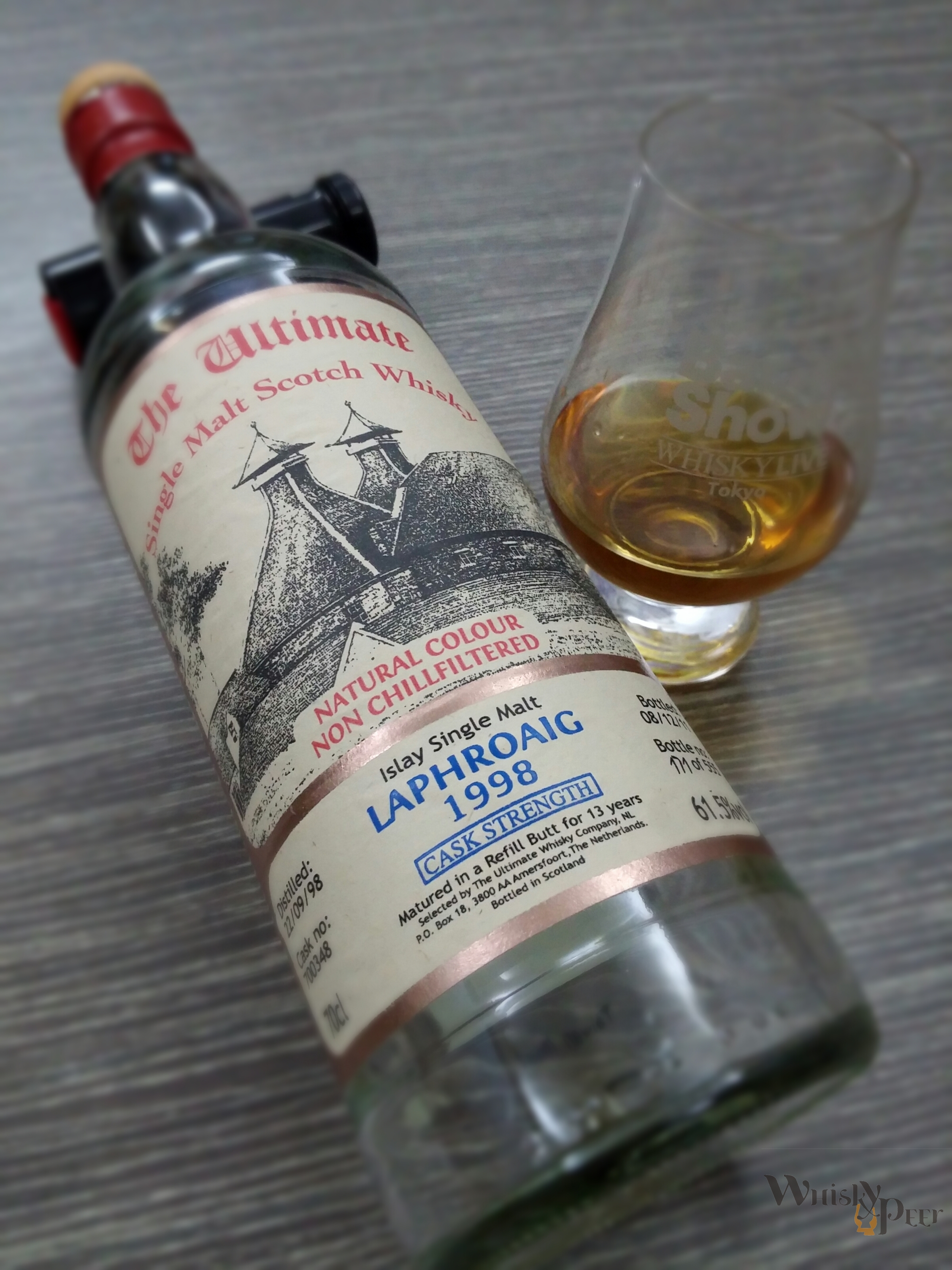 Lapgroaig 1998 Cask Stregnth - The Ultimate C# 700348 Refill Butt for 13 Years