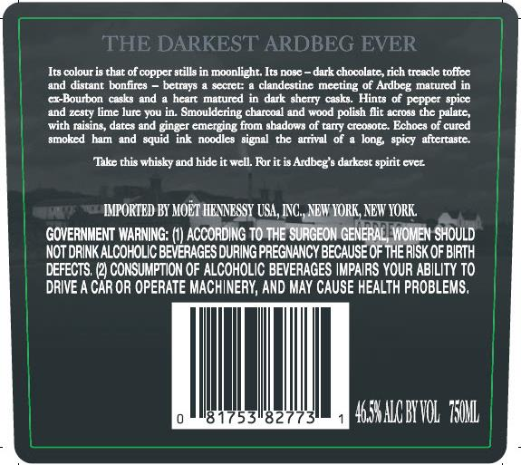Ardbeg Dark Cove Back
