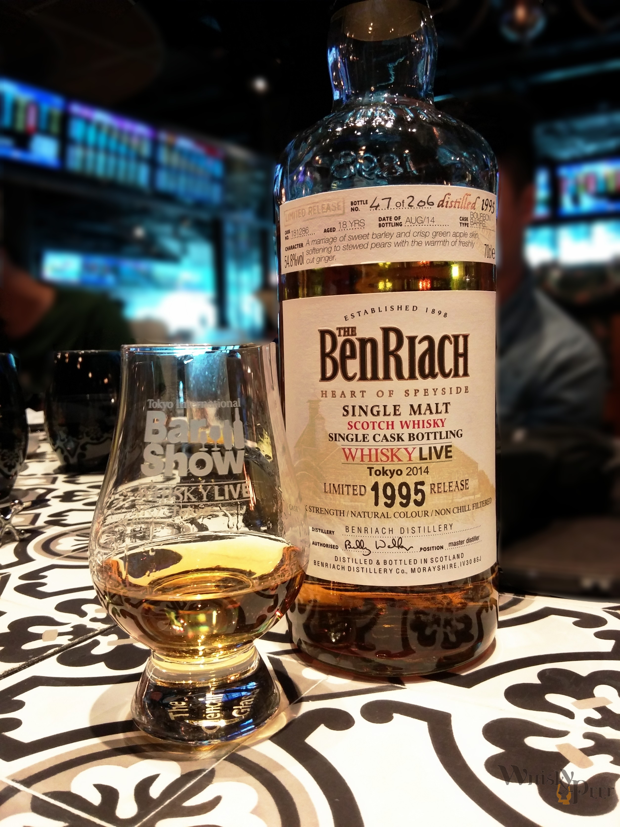 Benriach 1995 Bottle for Whiskylive 2014